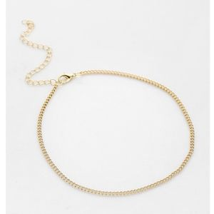 Gold Minimalist Dainty Chain Choker Necklace